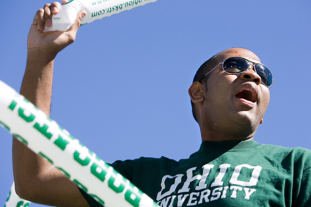 student Walter Williamson at O.U. football team vs. Western Michigan home football game on Saturday, 10/7/06.