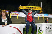Young Sutton United fan before the The FA Cup match between Sutton United and Arsenal at Gander Green Lane, Sutton, United Kingdom on 20 February 2017. Photo by Phil Duncan.