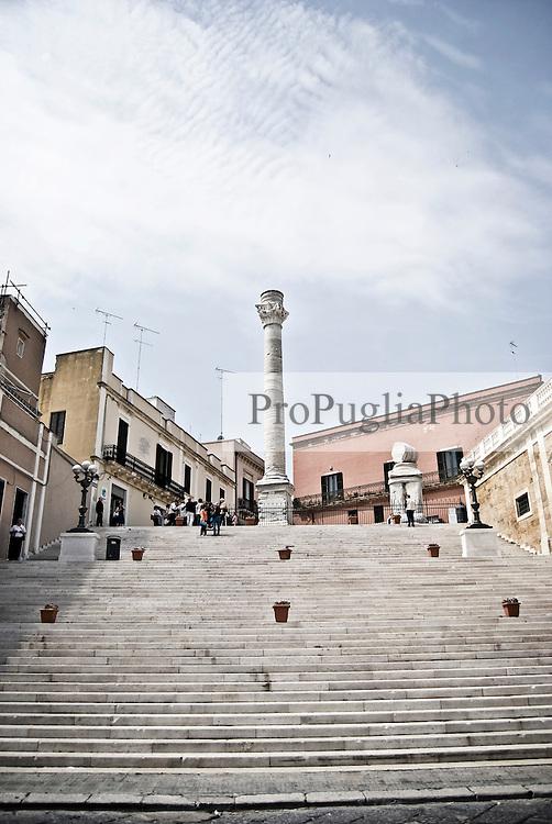 La scalinata delle Colonne romane situate al porto di Brindisi. 29/05/2010 PH Gabriele Spedicato
