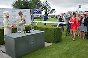 THE COUNTESS OF MARCH; ROWAN ATKINSON; LESLIE MARSHALL, Ladies Day, Glorious Goodwood. Goodwood. August 2, 2012