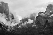 Clearing storm over Yosemite Valley, Yosemite National Park, California USA