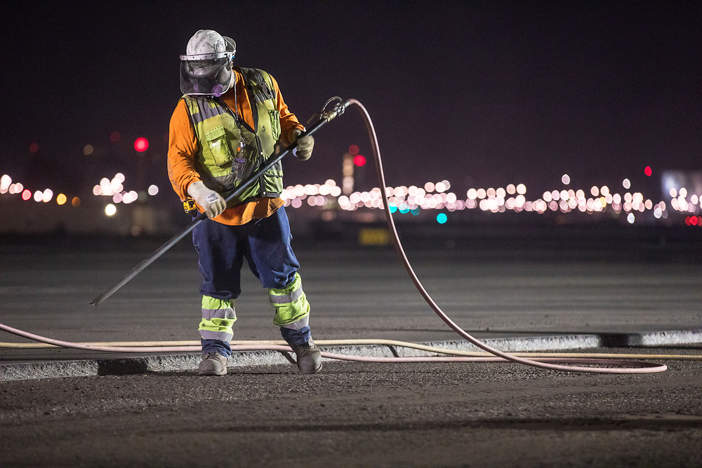 Nightwork at SAN Runway Rehibiltation