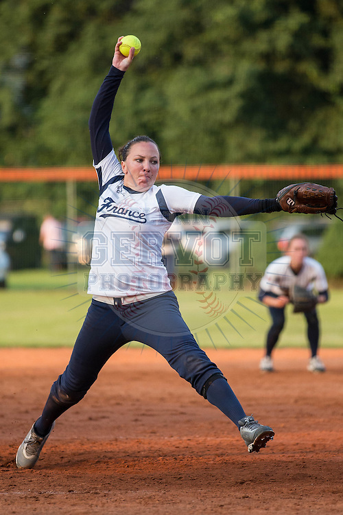 Shots from the Softball Torneo della Repubblica Bollate Italy. <br /> France Softball National team was opposed to Bollate Softball team.<br /> France won 6 to 4 in 7 innings.<br /> Credit : Glenn Gervot
