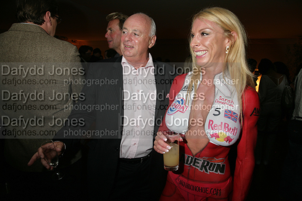 David Graham-Smith and Sarah Donohue, 3rd Annual Powerboat Rally. Blade Run Send Off Party. The Conservatory at Chelsea, Embankment. London sw3. 25 July 2007. .  -DO NOT ARCHIVE-© Copyright Photograph by Dafydd Jones. 248 Clapham Rd. London SW9 0PZ. Tel 0207 820 0771. www.dafjones.com.