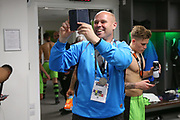 Forest Green Rovers goalkeeper coach Steve Hale during the Vanarama National League Play Off Final match between Tranmere Rovers and Forest Green Rovers at Wembley Stadium, London, England on 14 May 2017. Photo by Shane Healey.