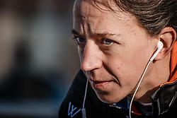 WYMAN Helen (GBR) preparing for Women Elite race, UCI Cyclo-cross World Cup #8 at Hoogerheide, Noord-Brabant, The Netherlands, 22 January 2017. Photo by Pim Nijland / PelotonPhotos.com | All photos usage must carry mandatory copyright credit (Peloton Photos | Pim Nijland)