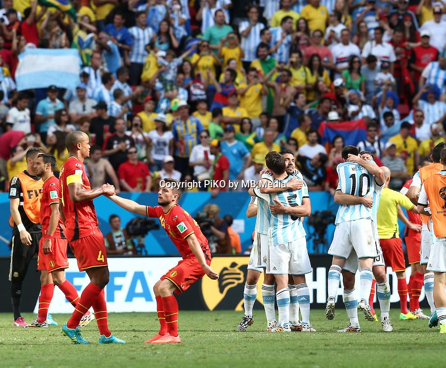Fifa Soccer World Cup - Brazil 2014 - <br /> ARGENTINA (ARG) Vs. BELGIUM (BEL) - Quarter-finals - Estadio Nacional Brasilia -- Brazil (BRA) - 05 July 2014 <br /> Here Argentine player /arg/ () and Belgian player  /bel/ ()<br /> &copy; PikoPress