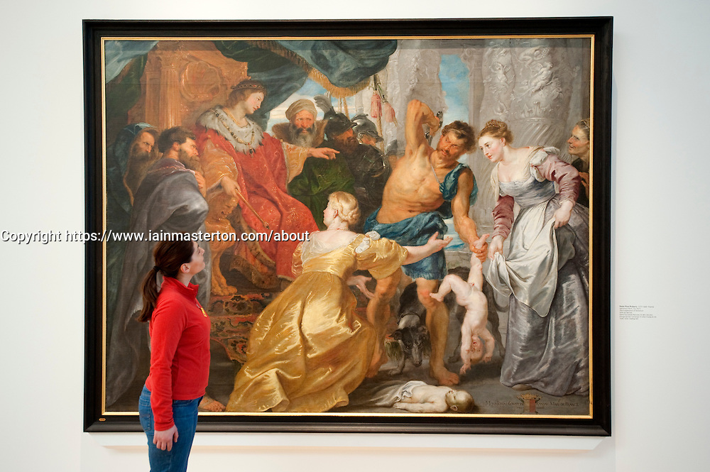 The Judgement of Solomon by Peter Paul Rubens at Statens Museum for Kunst or Royal Museum of Fine Arts in Copenhagen Denmark