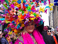 A colorful happening at the Easter Parade on Fifth Avenue