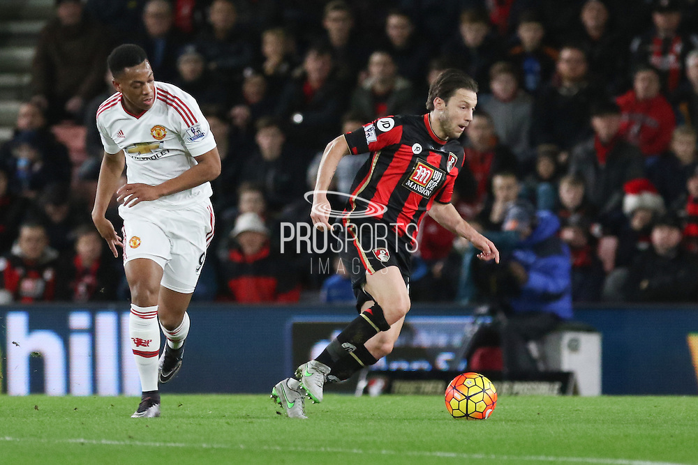 Harry Arter of Bournemouth during the Barclays Premier League match between Bournemouth and Manchester United at the Goldsands Stadium, Bournemouth, England on 12 December 2015. Photo by Phil Duncan.