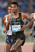 Selemon Barega (ETH) places second in the 5,000m in 12:53.04during the 39th Golden Gala Pietro Menena in an IAAF Diamond League meet at Stadio Olimpico in Rome on Thursday, June 6, 2019. (Jiro Mochizuki/Image of Sport)