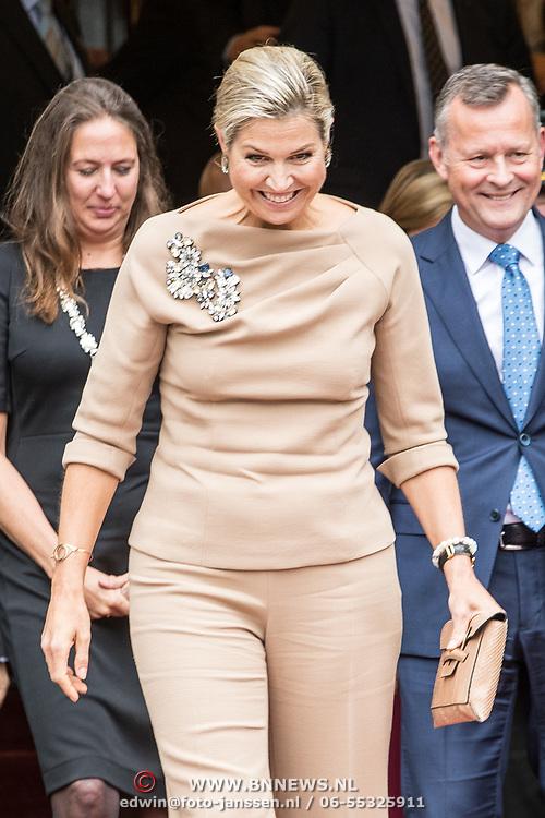 NLD/Amsterdam/20191008 - Maxima bij Conferentie voor Mental Health and Psychosocial Support, Koningin Maxima