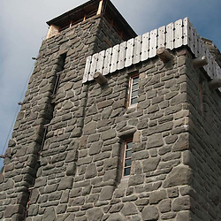 Stone Tower on Summit of Mt. Constitution, Orcas Island, San Juan Islands, Washington, US