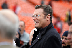Jan 22, 2012; San Francisco, CA, USA; NFL analyst Howie Long before the 2011 NFC Championship game between the San Francisco 49ers and the New York Giants at Candlestick Park.  Mandatory Credit: Jason O. Watson-US PRESSWIRE