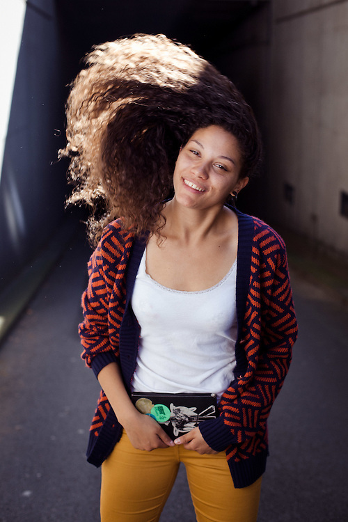 Spoken word performer and poet, Stephanie Turner. London, September 2011