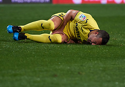 January 26, 2019 - Valencia, U.S. - VALENCIA, SPAIN - JANUARY 26: Santi Cazorla, midfielder of Villarreal CF complains after receiving a foul during the La Liga match between Valencia CF and Villarreal CF at Mestalla stadium on January 26, 2019 in Valencia, Spain. (Photo by Carlos Sanchez Martinez/Icon Sportswire) (Credit Image: © Carlos Sanchez Martinez/Icon SMI via ZUMA Press)