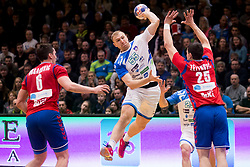 Ziga Mlakar of Slovenia during Handball friendly match before EURO 2018 between Slovenia and Serbia, on January 10, 2018 in Rdeca dvorana, Velenje, Slovenia. Photo by Urban Urbanc / Sportida