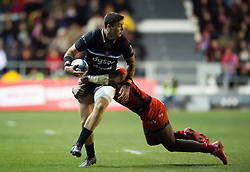 Matt Banahan of Bath Rugby is tackled in possession - Mandatory byline: Patrick Khachfe/JMP - 07966 386802 - 09/12/2017 - RUGBY UNION - Stade Mayol - Toulon, France - Toulon v Bath Rugby - European Rugby Champions Cup