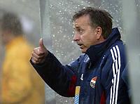 Fotball, 13. mai 2003, NM fotball herrer, Strømsgodset-Bærum,  Vidar Davidsen, trener for Strømsgodset