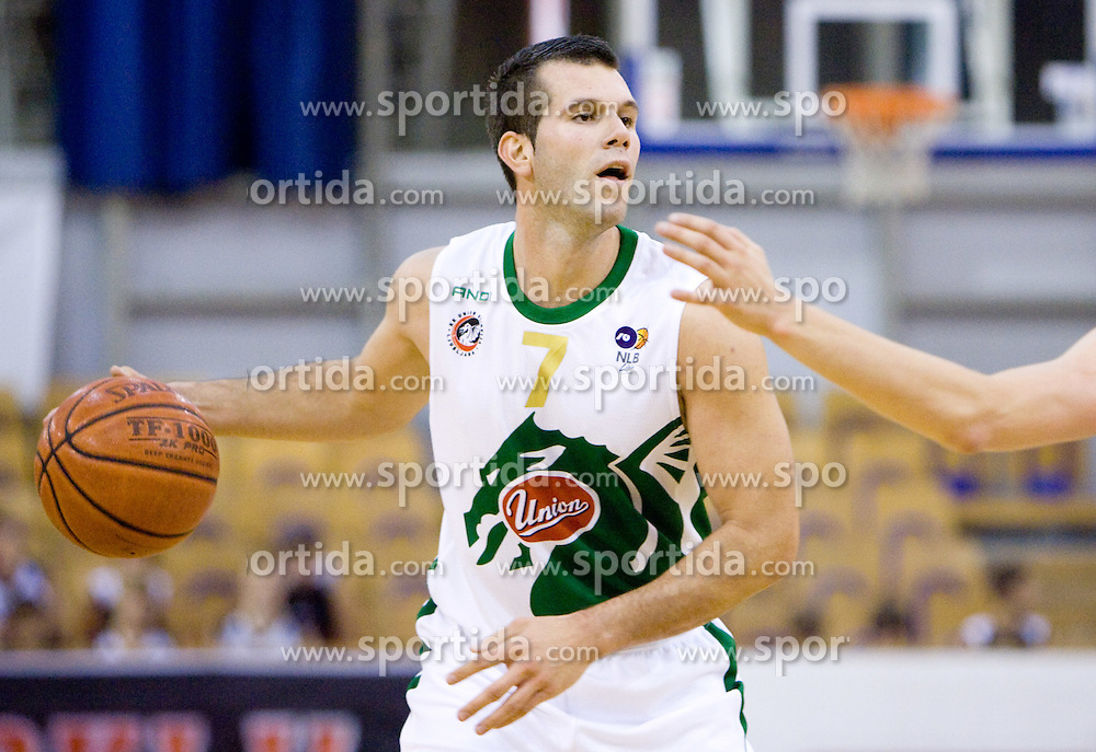 Sani Becirovic of Olimpija at Superpokal basketball match between KK Union Olimpija and Elektra Esotech, on September 27, 2009, in Arena Tivoli, Ljubljana, Slovenia. Olimpija won 95:62.  (Photo by Vid Ponikvar / Sportida)