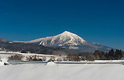 Photo shows Mt Bandai near Aizuwakamatsu City, Fukushima Prefecture, Japan.  There are several ski grounds on the mountain, which can be easily accessed from Tokyo. Photographer: Rob Gilhooly