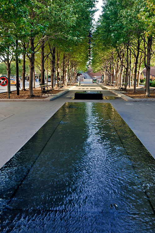 Reflecting pools, Fountain, Battery Park City, Manhattan, New York City, New York, USA