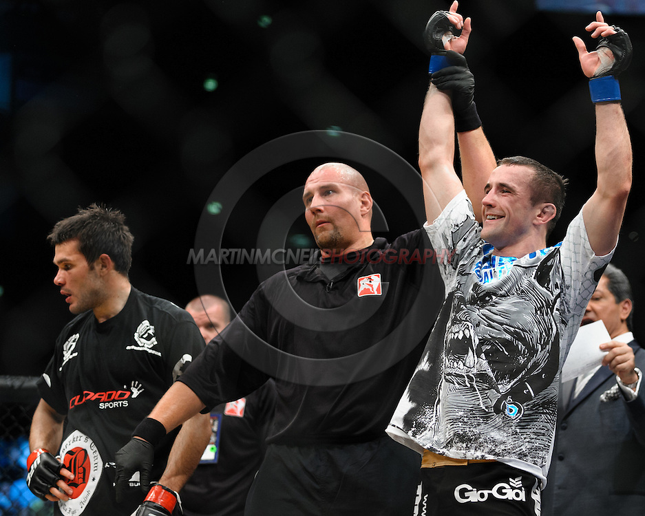 "COLOGNE, GERMANY, JUNE 13, 2009: Paul Taylor and Peter Sobotta during ""UFC 99: The Comeback"" inside LanXess Arena, Cologne"