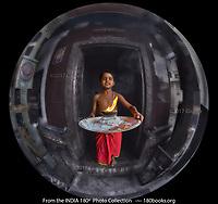 Temple Boy in Madurai, Tamil Nadu