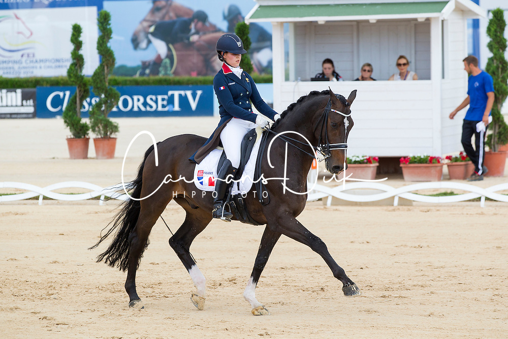 Ducos Blanchet Alexia (FRA) - Donnatello<br /> European Championships Dressage Junior and Young Riders 2014<br /> © Hippo Foto - Leanjo de Koster