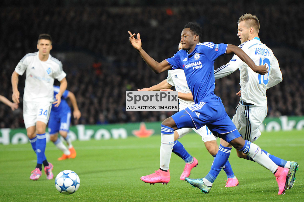 Chelseas Abdul Baba Rahman in action during the Chelsea v Dynamo Kiev champions league match in the group stage on the 4th November 2015