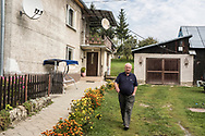 MIKOVE, SLOVAKIA - SEPTEMBER 5, 2018: Jan Zavacky, a first cousin of Andy Warhol, outside his home which is on the land where Warhol's mother was born on Wednesday, September 5, 2018 in Mikova, Slovakia. Andy Warhol's parents were both born in the village, and married there before separately moving to America and giving birth to their famous son, though he never visited. CREDIT: Brendan Hoffman for The New York Times