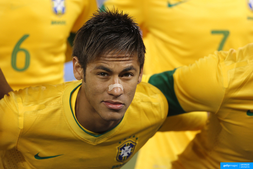 Neymar, Brazil, during the Brazil V Colombia International friendly football match at MetLife Stadium, New Jersey. USA. 14th November 2012. Photo Tim Clayton