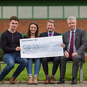 10.03.2017<br /> UL, Kemmy Business School Cheque presentations to Pieta House and Temple Street Childrens Hospital.<br /> Pictured are left to right, Sean Fitzgerald, KBS Faculty Rep, Jean Langford, Marketing and Management Rep, Karl Daly, Temple street rep and Dr. Philip O'Regan, Dean Kemmy Business School. Picture: Alan Place