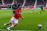 ALKMAAR - 01-04-2017, AZ - FC Groningen, AFAS Stadion, 0-0, FC Groningen speler Samir Memisevic, AZ speler Joris van Overeem