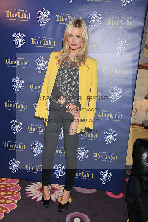 LAURA WHITMORE at the Johnnie Walker Blue Label and David Gandy partnership launch party held at Annabel's, 44 Berkeley Square, London on 5th February 2013.