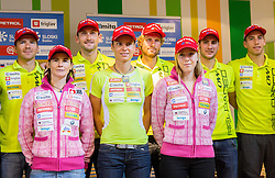 Peter Dokl, Andreja Mali, Jakov Fak, Teja Gregorin, Klemen Bauer, Anja Erzen, Simon Kocevar, Lenart Oblak during press conference of Slovenia Biathlon team for season 2013/14 on October 1, 2013 in BTC, Ljubljana, Slovenia. (Photo by Vid Ponikvar / Sportida.com)