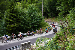 The peloton starts to thin as the gradient bites during Stage 9 of 2019 Giro Rosa Iccrea, a 125.5 km road race from Gemona to Chiusaforte, Italy on July 13, 2019. Photo by Sean Robinson/velofocus.com