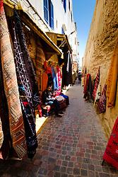Narrow streets of the medina in Essaouira, Morocco<br /> <br /> (c) Andrew Wilson | Edinburgh Elite media