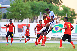 AUBAGNE, FRANCE - Monday, May 29, 2017: England's Ike Ugbo scores the winning goal during the Toulon Tournament Group A match between England U18 and Angola U20 at the Stade de Lattre-de-Tassigny. (Pic by David Rawcliffe/Propaganda)