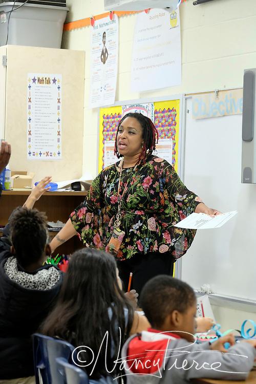 Classroom of Oakdale Elementary School Teacher of the Year Utrilla Patterson.