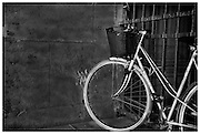 This bicycle was parked somewhere near the Versaille palace, in Paris France fine art, fine art photography, black and white, black&white, monokrom, monochrome