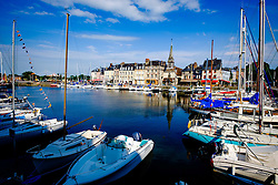 The harbour in Honfleur, France in Summer