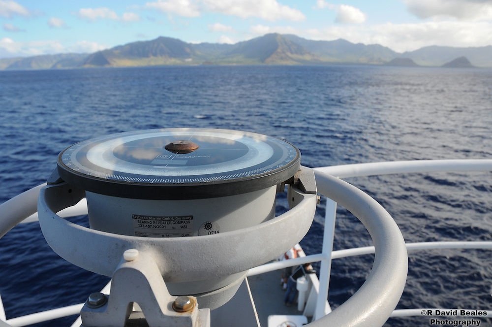 Ship's Compass and Waianae Mountians