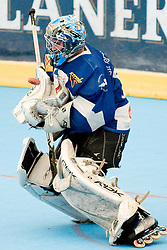Goalie Ziga Antonic catches the puck at IZS Masters 2010 inline hockey match between Citypark Strele and DPH Kavke Kranj, on June 12, 2010, in Ice Hall, Kranj, Slovenia. (Photo by Matic Klansek Velej / Sportida)