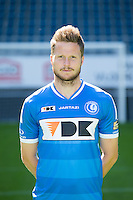 Gent's Lasse Nielsen pictured during the 2015-2016 season photo shoot of Belgian first league soccer team KAA Gent, Saturday 11 July 2015 in Gent.