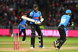 Sussex Sharks' David Wiese reacts after being bowled out by Worcestershire Rapids' Moeen Ali during the Vitality T20 Blast Final on Finals Day at Edgbaston, Birmingham.