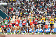 Men's 10,000 Metres race during the 2019 IAAF World Athletics Championships at Khalifa International Stadium, Doha, Qatar on 6 October 2019.