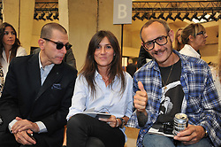 Emmanuelle Alt and Terry Richardson at Celine Spring-Summer 2012 Ready-To-Wear collection show held at Paris Tennis Club, in Paris, France, on October 3, 2011. Photo by Thierry Orban/ABACAPRESS.COM