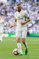 Real Madrid's Karim Benzema during La Liga match between Real Madrid and Atletico de Madrid at Santiago Bernabeu Stadium in Madrid, April 08, 2017. Spain.<br /> (ALTERPHOTOS/BorjaB.Hojas)