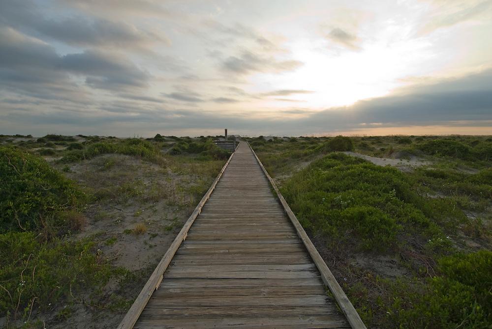 Florida, Fernandina Beach, Fort Clinch State, Sunrise, Boardwalk